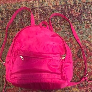 Hot Pink Canvas Mini-Backpack